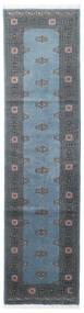 Pakistan Bokhara 2Ply Matto 78X304 Itämainen Käsinsolmittu Käytävämatto Sininen/Tummansininen/Tummanharmaa (Villa, Pakistan)