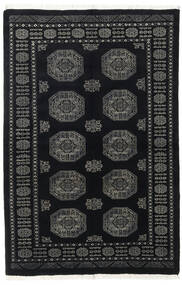 Pakistan Bokhara 3Ply Matto 134X204 Itämainen Käsinsolmittu Musta/Tummanharmaa (Villa, Pakistan)