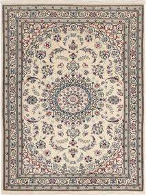Nain 6La Matto 90X117 Itämainen Käsinsolmittu Vaaleanharmaa/Tummanharmaa (Villa/Silkki, Persia/Iran)