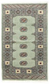 Pakistan Bokhara 2Ply Matto 93X153 Itämainen Käsinsolmittu Tummanharmaa/Pastellinvihreä (Villa, Pakistan)