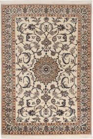 Nain 6La Matto 98X145 Itämainen Käsinsolmittu Vaaleanharmaa/Beige (Villa/Silkki, Persia/Iran)