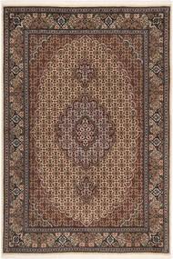 Tabriz 50 Raj Matto 100X150 Itämainen Käsinsolmittu Tummanruskea/Ruskea (Villa/Silkki, Persia/Iran)