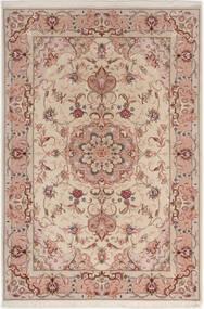 Tabriz 50 Raj Silkillä Matto 100X152 Itämainen Käsinsolmittu Vaaleanharmaa/Tummanpunainen (Villa/Silkki, Persia/Iran)