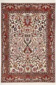 Tabriz 50 Raj Silkillä Matto 105X155 Itämainen Käsinsolmittu Tummanruskea/Tummanpunainen (Villa/Silkki, Persia/Iran)