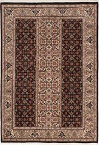 Tabriz 50 Raj Matto 100X155 Itämainen Käsinsolmittu Tummanruskea/Ruskea (Villa/Silkki, Persia/Iran)