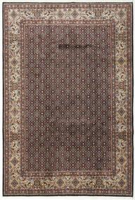 Moud Matto 197X292 Itämainen Käsinsolmittu Tummanruskea/Vaaleanharmaa (Villa/Silkki, Persia/Iran)