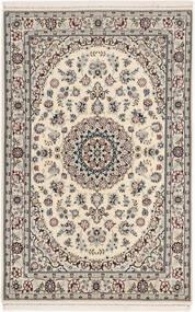 Nain 6La Matto 105X160 Itämainen Käsinsolmittu Vaaleanharmaa/Beige (Villa/Silkki, Persia/Iran)