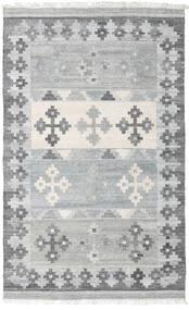 Pet Yarn Kelim Matto 160X230 Moderni Käsinkudottu Vaaleanharmaa ( Intia)