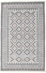 Pet Yarn Kelim Matto 160X230 Moderni Käsinkudottu Vaaleanharmaa/Tummanharmaa ( Intia)
