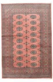 Pakistan Bokhara 2Ply Matto 123X183 Itämainen Käsinsolmittu Vaaleanpunainen/Tummanpunainen (Villa, Pakistan)