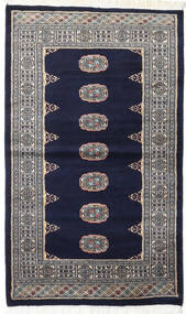 Pakistan Bokhara 2Ply Matto 93X157 Itämainen Käsinsolmittu Musta/Vaaleanharmaa (Villa, Pakistan)