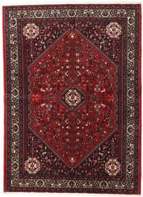 Abadeh Matto 152X208 Itämainen Käsinsolmittu Tummanpunainen/Musta (Villa, Persia/Iran)