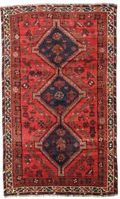Shiraz Matto 153X251 Itämainen Käsinsolmittu Tummanruskea/Tummanpunainen (Villa, Persia/Iran)