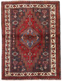Shiraz Matto 115X154 Itämainen Käsinsolmittu Tummanpunainen/Tummanruskea (Villa, Persia/Iran)