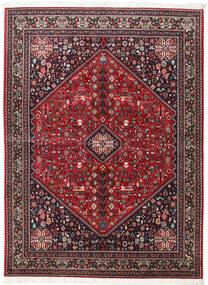 Abadeh Matto 154X210 Itämainen Käsinsolmittu Tummanpunainen/Musta (Villa, Persia/Iran)