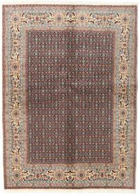Moud Matto 142X198 Itämainen Käsinsolmittu Vaaleanharmaa/Tummanpunainen (Villa/Silkki, Persia/Iran)