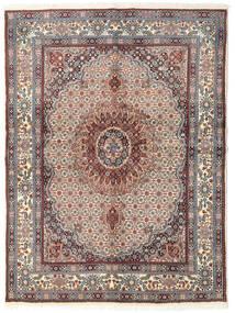 Moud Matto 148X200 Itämainen Käsinsolmittu Beige/Vaaleanharmaa (Villa/Silkki, Persia/Iran)