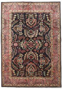 Moud Matto 171X243 Itämainen Käsinsolmittu Musta/Vaaleanruskea (Villa/Silkki, Persia/Iran)