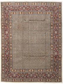 Moud Matto 196X256 Itämainen Käsinsolmittu Vaaleanharmaa/Tummanruskea (Villa/Silkki, Persia/Iran)