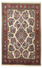Sarough Matto 103X163 Itämainen Käsinsolmittu Musta/Tummanpunainen (Villa, Persia/Iran)