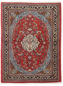 Sarough Matto 110X145 Itämainen Käsinsolmittu Tummanpunainen/Tummanruskea (Villa, Persia/Iran)