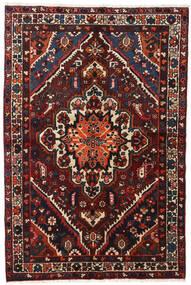 Bakhtiar Matto 140X210 Itämainen Käsinsolmittu Musta/Tummanpunainen (Villa, Persia/Iran)