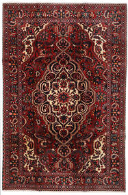 Bakhtiar Matto 204X308 Itämainen Käsinsolmittu Tummanpunainen/Musta (Villa, Persia/Iran)