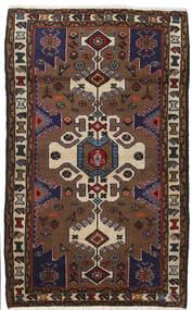 Hamadan Matto 80X130 Itämainen Käsinsolmittu Tummanpunainen/Tummanruskea (Villa, Persia/Iran)