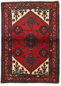 Hamadan Matto 100X142 Itämainen Käsinsolmittu Tummanpunainen/Tummanruskea (Villa, Persia/Iran)