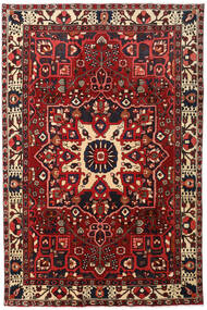 Bakhtiar Matto 204X307 Itämainen Käsinsolmittu Tummanpunainen/Musta (Villa, Persia/Iran)