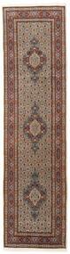 Moud Matto 78X295 Itämainen Käsinsolmittu Käytävämatto Tummanruskea/Tummanpunainen (Villa/Silkki, Persia/Iran)