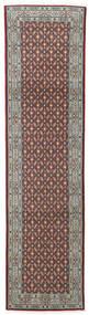 Moud Matto 80X297 Itämainen Käsinsolmittu Käytävämatto Vaaleanharmaa/Tummanruskea (Villa/Silkki, Persia/Iran)
