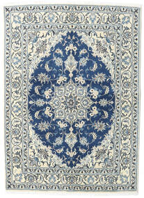 Nain Matto 144X200 Itämainen Käsinsolmittu Vaaleanharmaa/Tummansininen (Villa, Persia/Iran)