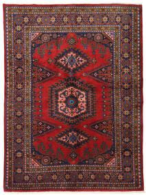 Wiss Matto 162X220 Itämainen Käsinsolmittu Tummanpunainen/Tummanvioletti (Villa, Persia/Iran)