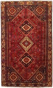 Shiraz Matto 180X300 Itämainen Käsinsolmittu Tummanpunainen/Tummanruskea (Villa, Persia/Iran)