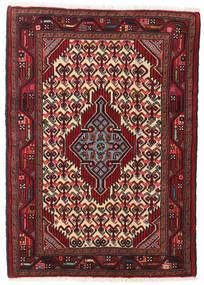 Hamadan Matto 82X119 Itämainen Käsinsolmittu Tummanpunainen/Tummanruskea (Villa, Persia/Iran)