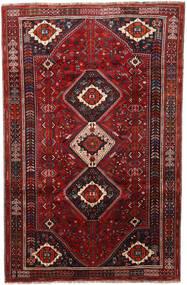 Shiraz Matto 180X280 Itämainen Käsinsolmittu Tummanpunainen/Tummanruskea (Villa, Persia/Iran)