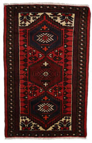 Hamadan Matto 68X112 Itämainen Käsinsolmittu Tummanpunainen/Ruoste (Villa, Persia/Iran)
