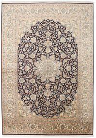 Kashmir 100% Silkki Matto 169X244 Itämainen Käsinsolmittu Beige/Tummanharmaa (Silkki, Intia)