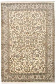 Kashmir 100% Silkki Matto 166X245 Itämainen Käsinsolmittu Tummanbeige/Beige (Silkki, Intia)