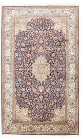 Kashmir 100% Silkki Matto 95X158 Itämainen Käsinsolmittu Vaaleanharmaa/Beige (Silkki, Intia)