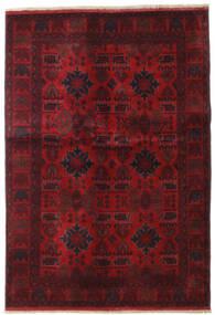 Afghan Khal Mohammadi Matto 132X189 Itämainen Käsinsolmittu Tummanpunainen/Tummanruskea (Villa, Afganistan)