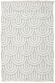 Vanya - Sand/Musta Matto 160X230 Moderni Käsinsolmittu Vaaleanharmaa/Beige ( Intia)