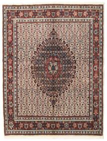 Moud Matto 148X195 Itämainen Käsinsolmittu Vaaleanharmaa/Tummanruskea (Villa/Silkki, Persia/Iran)