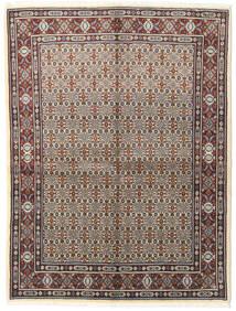Moud Matto 150X197 Itämainen Käsinsolmittu Vaaleanharmaa/Tummanruskea (Villa/Silkki, Persia/Iran)