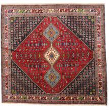 Yalameh Matto 192X200 Itämainen Käsinsolmittu Neliö Tummanpunainen/Tummanruskea (Villa, Persia/Iran)