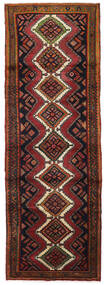 Hamadan Matto 95X278 Itämainen Käsinsolmittu Käytävämatto Tummanruskea/Tummanpunainen (Villa, Persia/Iran)