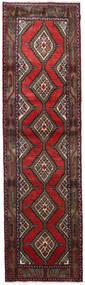 Hamadan Matto 84X305 Itämainen Käsinsolmittu Käytävämatto Tummanpunainen/Musta (Villa, Persia/Iran)