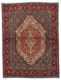 Senneh Matto 122X164 Itämainen Käsinsolmittu Tummanpunainen/Tummanharmaa (Villa, Persia/Iran)