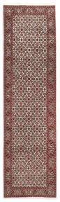 Bidjar Matto 88X298 Itämainen Käsinsolmittu Käytävämatto Tummanpunainen/Tummanruskea (Villa, Persia/Iran)